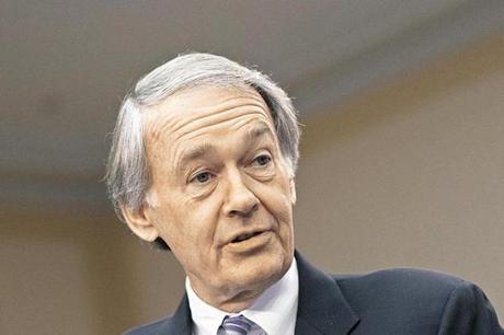 US Representative Edward J. Markey of Malden has officially thrown his hat in the ring for the Senate seat.