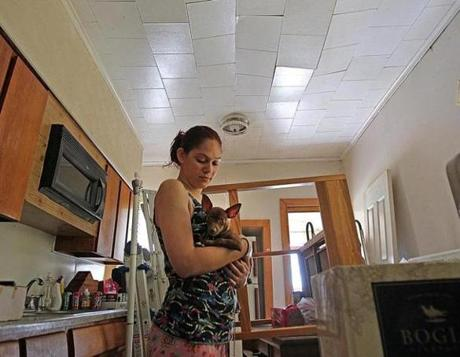 Xiomara Luna moved out of this apartment because insurance would not cover the repairs to the damaged kitchen ceiling.