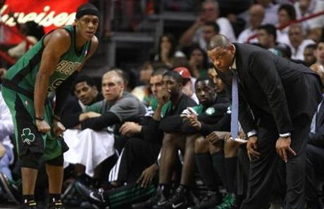 Rajon Rondo, Doc Rivers and the Celtics had few answers after falling behind 2-0 in the East finals after another loss in Miami.