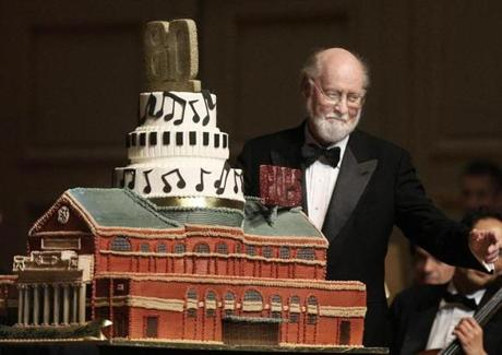 5-31-2012 Bosto, Mass. Presidents Night at the Pops was a special evening to celebrate Conductor John Williams 80th birthday. Globe photo by Bill Brett