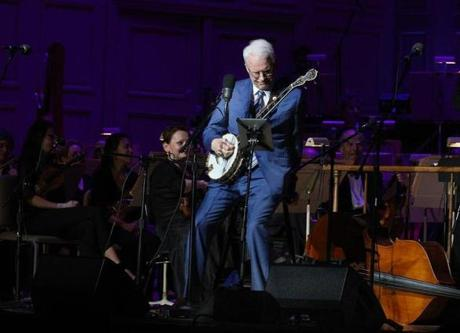 5-31-2012 Bosto, Mass. Presidents Night at the Pops with Steve Martin performing with members of The Steep Canyon Rangers an Evening of Bluegrass and Comedy . Globe photo by Bill Brett