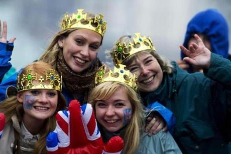 Revellers wearing crowns joined the four-day fete that started Saturday.