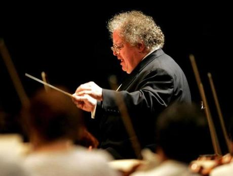 James Levine conducts the Boston Symphony Orchestra at Tanglewood on July 7, 2006.