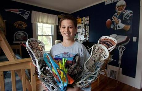 Campbell, with more of his gear. Many young lacrosse players are seen as gear junkies for their desire to own the most colorful and fun products.  .