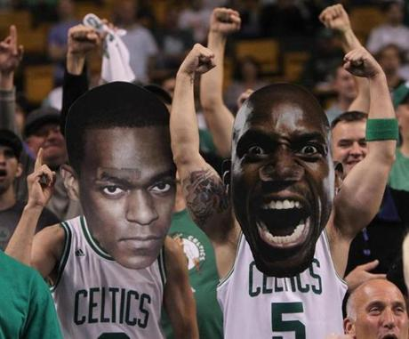 Fans were decked out to cheer on the Celtics before the game.