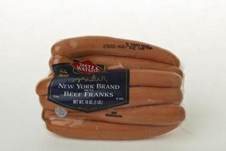 "Dietz & Watson New York Brand Beef Franks (8 links/16 oz./$6.49 at Roche Bros.); comments . . . ""Bland."" ""Not too salty."" ""Sort of enjoyed it."""