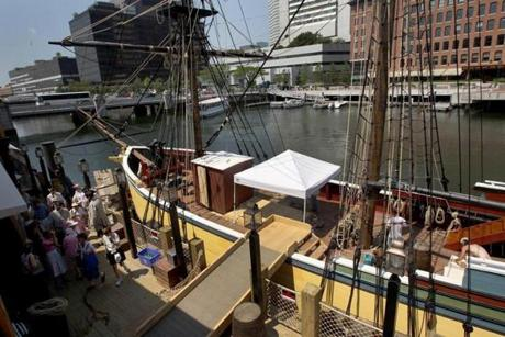The Boston Tea Party Ships & Museum is finally open on Congress Street.