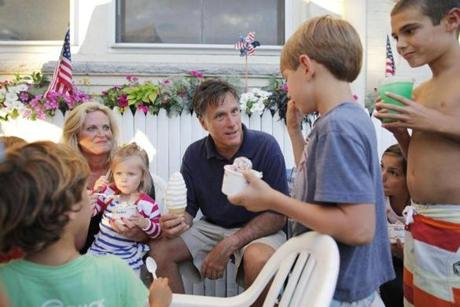 The Fourth of July vacation in Wolfeboro is an annual event for the Romneys.