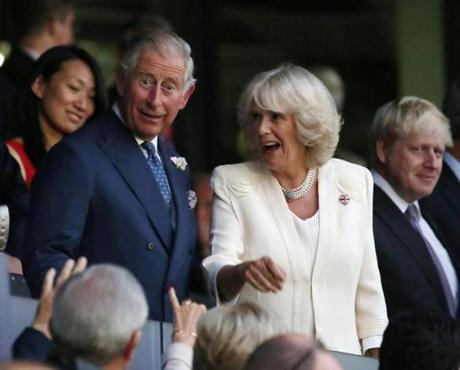 Britain's Prince Charles and his wife Camila, Duchess of Cornwall, arrived for the show.