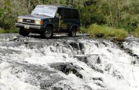 Tacuapa Lodge's battered Isuzu takes visitors crashing through dense brush and across rivers and arroyos.