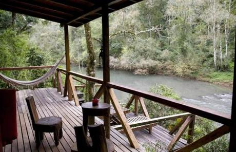 At Misiones' Don Enrique Lodge, each cabin opens to a private, waterside veranda.