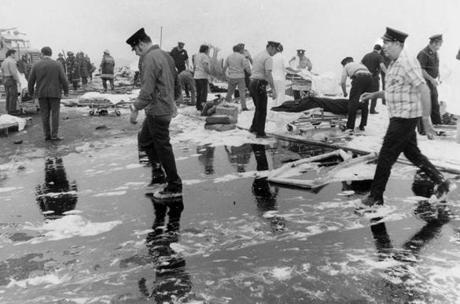July 31 1973: The relief response effort at the crash site was enormous. The Rev. James Lane, the Boston police chaplain who was called to the scene to give comfort and the last rites to crash victims, said in an interview later,