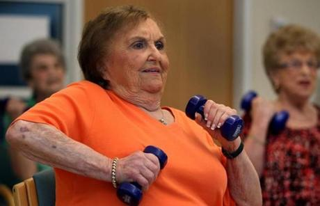 Natalie Waterman, 86,  participated in a class.