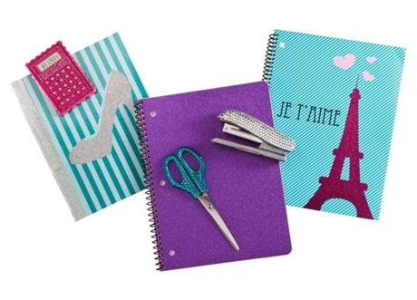 Glam rocks scissors, stapler, notebooks, and folders, $2-$4 at Target store locations.