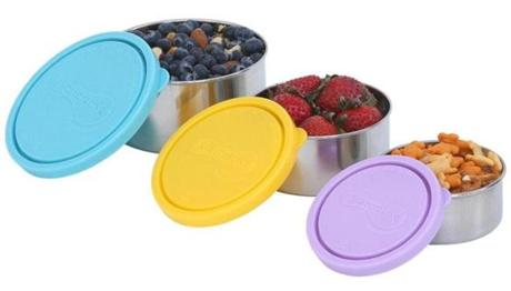 Kids Konserve nesting trio of stainless steel snack containers, $27 at <a href=