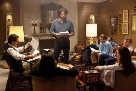 "Ben Affleck (center) directed and stars in ""Argo,"" a thriller about the 1979 Iran hostage crisis."