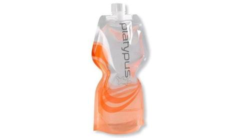 Platypus collapsible 1-liter SoftBottle water bottle in tangerine, $8.95 at <a href=