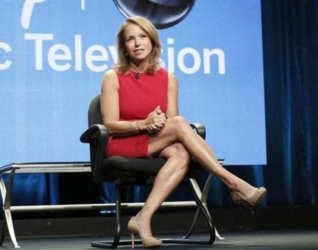 Katie Couric looks to meld breaking news and lighthearted content on her show.