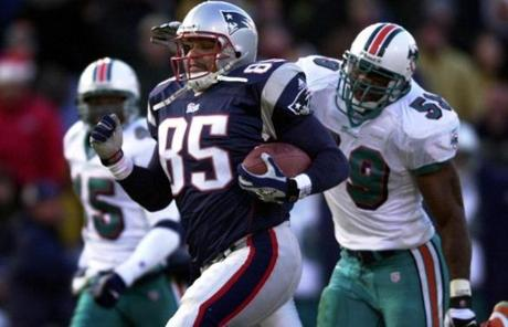 Jermaine Wiggins (2000-01) played just two seasons in New England, but was instrumental in the team's run to a Super Bowl XXXVI  title.
