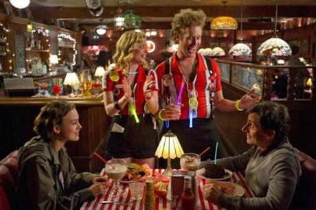 "From left: Keira Knightley, Gillian Jacobs, T.J. Miller, and Steve Carell in ""Seeking a Friend for the End of the World"""
