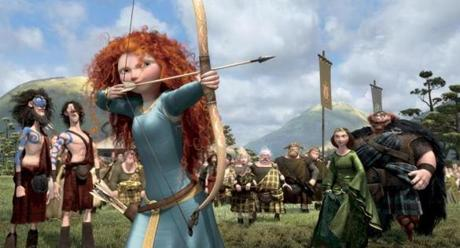 "Scottish heroine Merida, voiced by Kelly Macdonald, in Disney/Pixar's animated adventure ""Brave."""