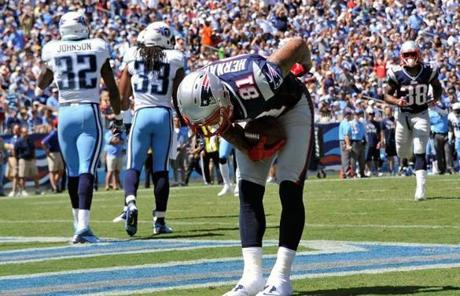 Hernandez took a bow after his score.
