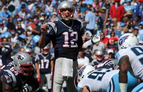 Tom Brady completed 23 of 31 passes for 236 yards and two touchdowns, with no interceptions.