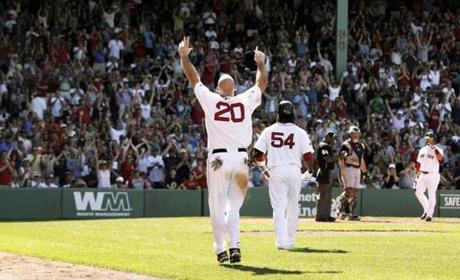 Kevin Youkilis was saluted by the Fenway Park crowd on the day he was traded to Chicago.