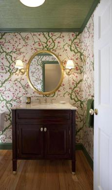 Powder Rooms Go Dramatic Photo 4 Of 5 Pictures The Boston Globe