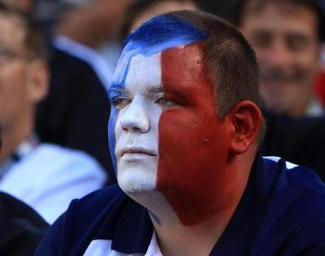 Patriots fans sat in stunned disbelief after the loss.