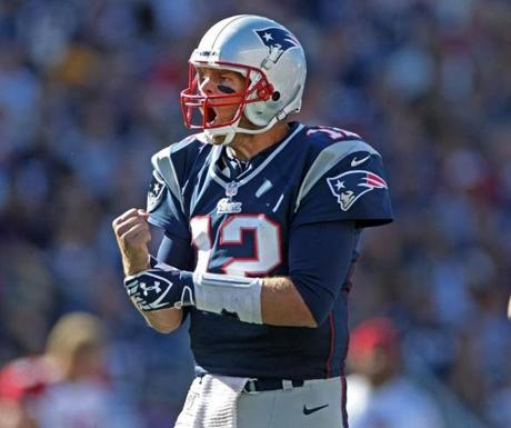 An irate Tom Brady screamed at an official that he thought his tight end Rob Gronkowski had been held on a fourth quarter incomplete pass play.