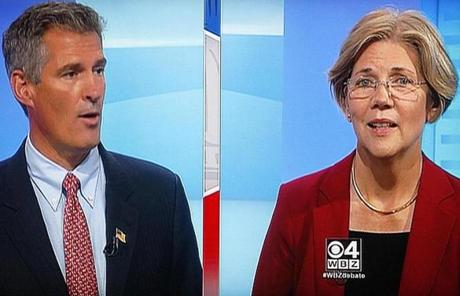 Senator Scott Brown and Elizabeth Warren met Thursday night for the first of four debates.