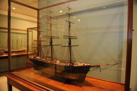 Ship models at the Addison Gallery of American Art.