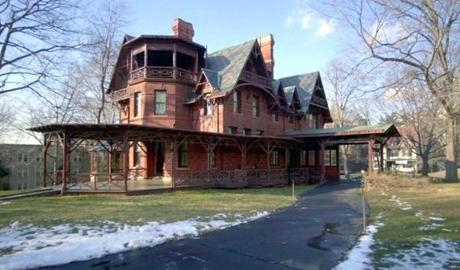 The Red Brick Gothic Home Of Mark Twain In Hartford Conn Is Where He