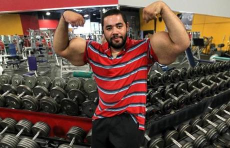 The bodybuilding community is accusing Ismail of injecting an oil directly into his biceps to make them appear bigger.