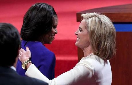 Michelle Obama and Ann Romney met.
