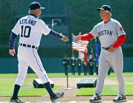On Opening Day in Detroit, optimism still ran high around the Red Sox as Valentine shook hands with Tigers manager Jim Leyland.