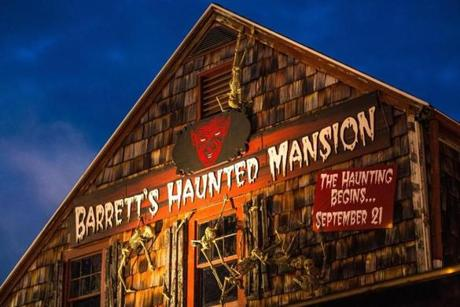 This year's mansion contains 13 rooms including a carnival, a zombie room, and a corridor featuring Leatherface from