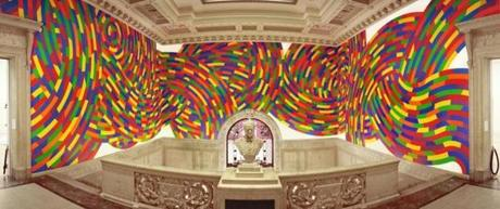 A wall drawing at The Wadsworth Atheneum Museum of Art in Hartford, Conn.