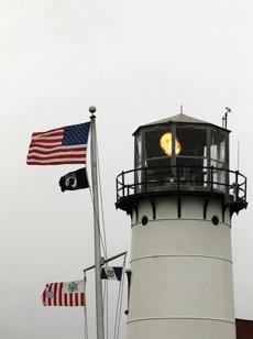 Chatham Lighthouse, an active Coast Guard station, sits at the elbow of Cape Cod.
