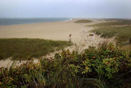 A view of the beach near the Chatham Lighthouse on Cape Cod.