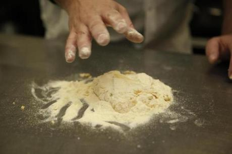 Chef Jason Martin started mixing flour during.
