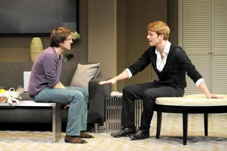 "Michael Goldsmith and Grant MacDermott in ""Now or Later."""
