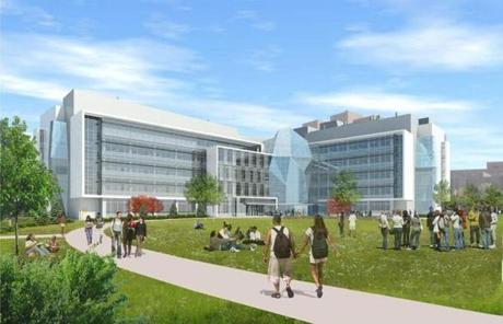 The science complex at UMass Boston is expected to be completed in 2014.