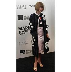 Anna Wintour, editor-in-chief of Vogue Magazine, at the MFA.