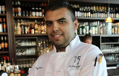 Chef Edgar Oliveira at 75 on Liberty Wharf.