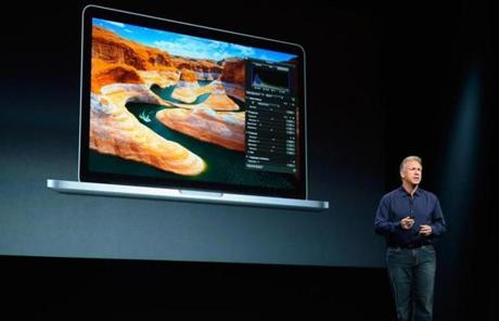 Schiller also unveiled a new line of MacBook laptops.