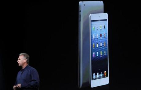 It also has a screen that's about two-thirds the size of the full-size iPad.