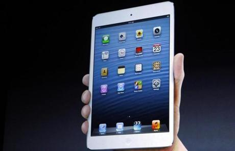The iPad mini weighs 0.68 pounds, half as much as the full-size iPad, and is as thin as a pencil, Schiller said.