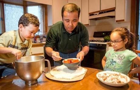 With the hockey season paused until a collective bargaining agreement is reached, hockey reporter Fluto Shinzawa occupies his time in the kitchen.